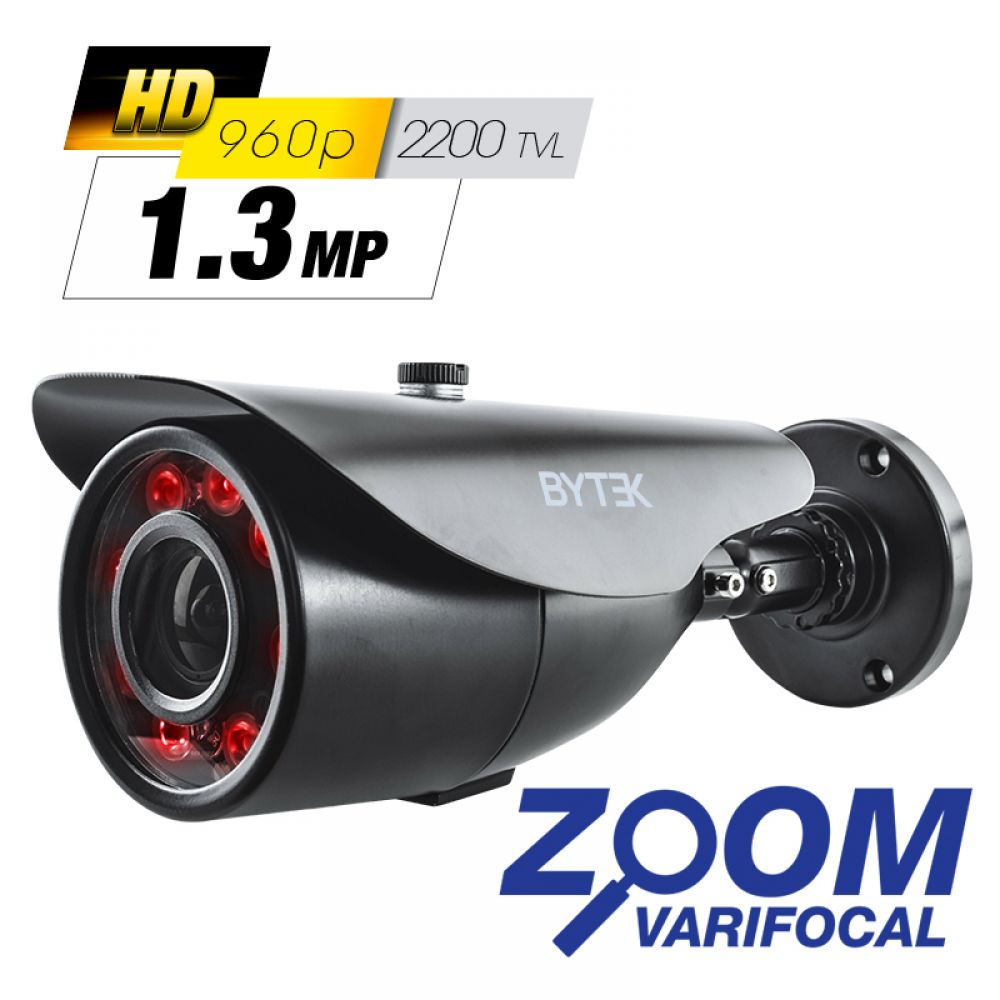 Camara bullet zoom varifocal de 1.3mp 2200 tvl 960p