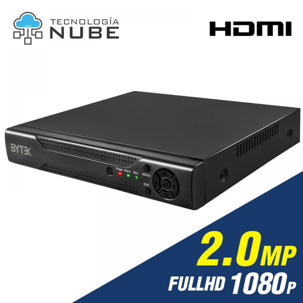 Grabador DVR 16 canales de 2.0mp 1080p Full HD