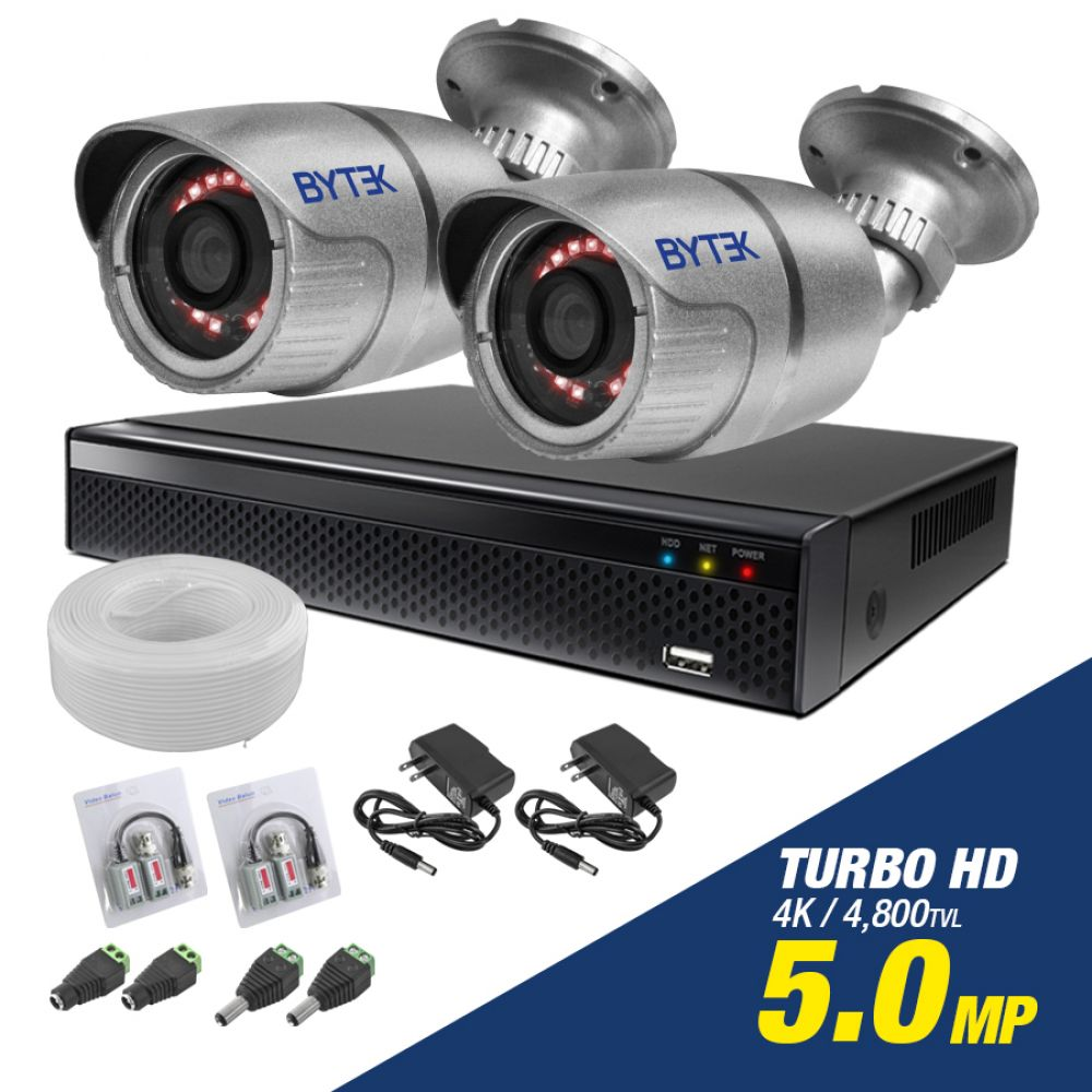 Kit de 2 camaras de 5.0mp Turbo HD 4K
