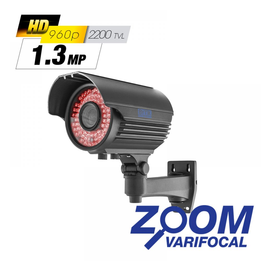 Camara bullet zoom varifocal de 1.0mp 1800 tvl 720p