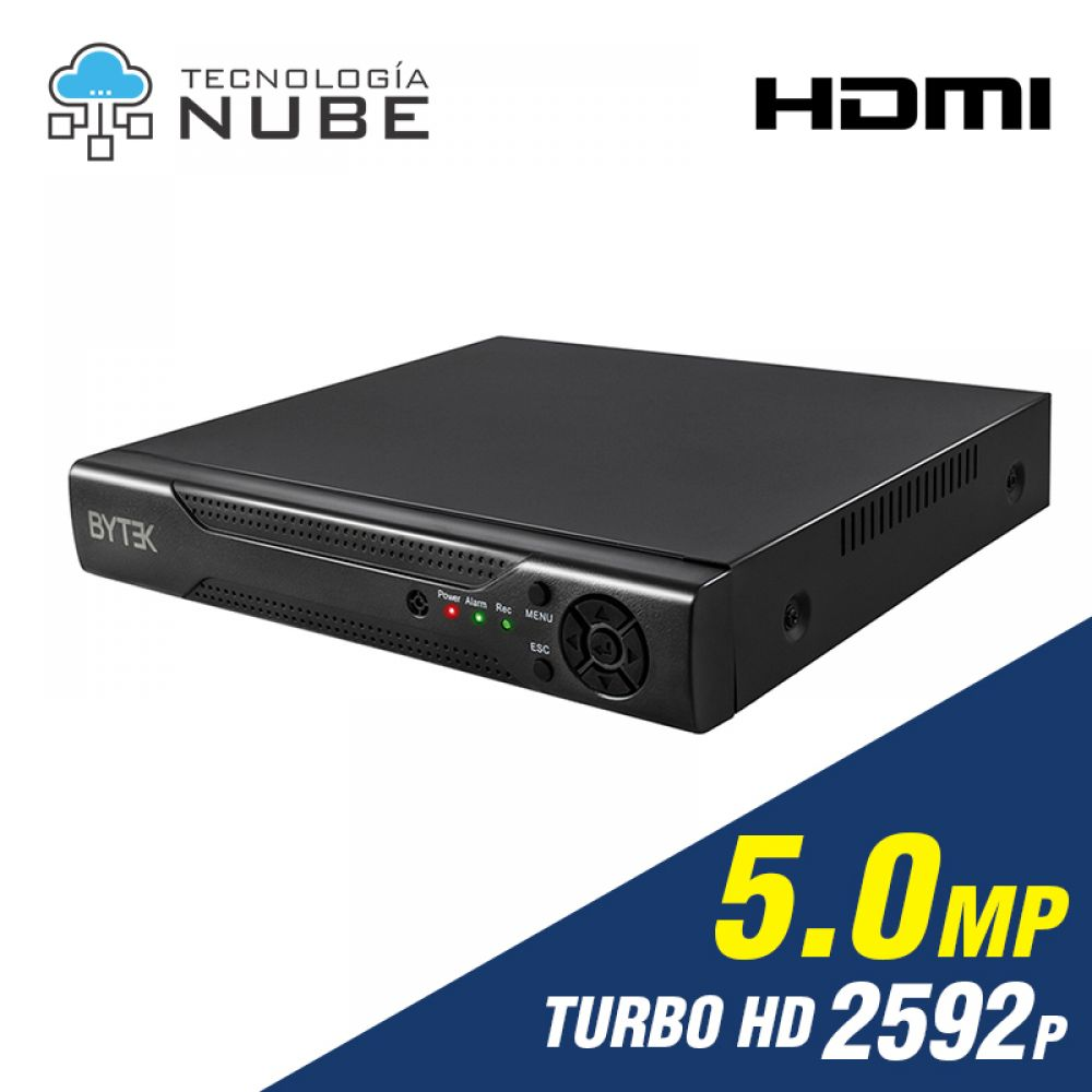 Grabador DVR 8 canales de 5.0mp 2592p 4K Turbo HD