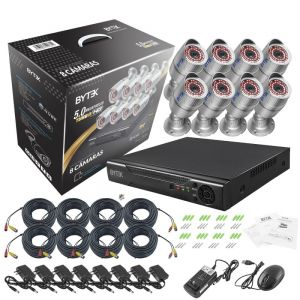 Kit en caja de 8 camaras de 5.0MP Turbo HD 4K