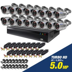 Kit de 16 camaras de 5.0mp Turbo HD 4K
