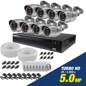 Kit de 8 camaras de 5.0mp Turbo HD 4K