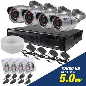 Kit de 4 camaras de 5.0mp Turbo HD 4K