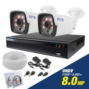 Kit de 2 camaras de 8.0mp UHDV 2160p + cable utp