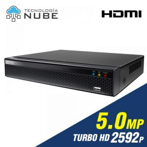 Grabador DVR 4 canales de 5.0mp 2592p 4K Turbo HD App FreeIP